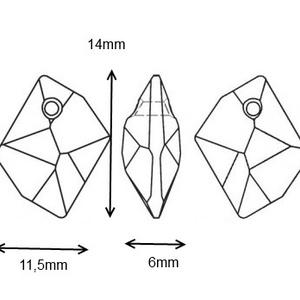 Swarovski cosmis 14mm-es medál több színben  - gyöngy, ékszerkellék - swarovski kristályok - Meska.hu