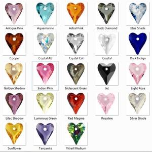 Swarovski wild szív17mm-es medál több színben  - gyöngy, ékszerkellék - swarovski kristályok - Meska.hu