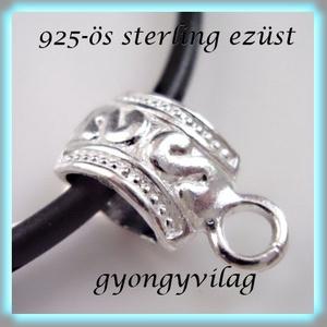 925-ös ezüst medáltartó EMT 09 , Gyöngy, ékszerkellék, Egyéb alkatrész, Ékszerkészítés, Mindenmás, Szerelékek, 925-ös fémjellel ellátott valódi ezüst (bevizsgált)medáltartó,csúszókapocs.\n\n\nAz ár 1db medál tartór..., Meska