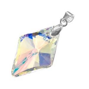 Swarovski kristály medál -19mm-es rhombus  több színben , Ékszer, Nyaklánc, Medál, Ékszerkészítés, Gyöngyfűzés, gyöngyhímzés, Meska