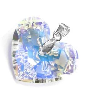 Swarovski kristály medál -18mm-es Truly in Love szív  több színben , Ékszer, Medál, Nyaklánc, Ékszerkészítés, Gyöngyfűzés, gyöngyhímzés, Meska