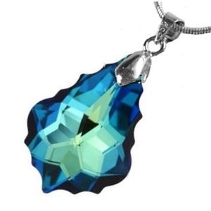 Swarovski kristály medál -22mm-es barokk  több színben , Ékszer, Medál, Nyaklánc, Ékszerkészítés, Gyöngyfűzés, gyöngyhímzés, Meska