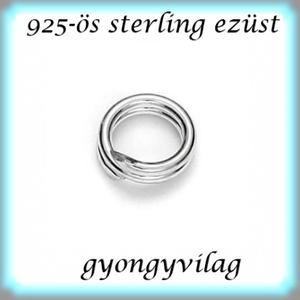 925-ös ezüst szerelőkarika dupla ESZK D 0,6 x 6mm-es  - Meska.hu