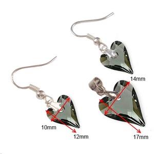 Swarovski kristály 12-17mm-es  wild szív szett  (gyongyvilag) - Meska.hu