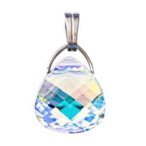 Swarovski kristály medál -15,5mm-es briolett szív több színben, Ékszer, Medál, Nyaklánc, Ékszerkészítés, Gyöngyfűzés, gyöngyhímzés, Meska