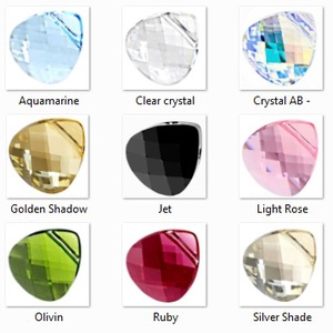 Swarovski kristály fülbevaló -11mm-es briolett szív több színben  - ékszer - fülbevaló - lógó csepp fülbevaló - Meska.hu