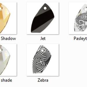 swarovski kristály avant-garde 40mm-es - gyöngy, ékszerkellék - swarovski kristályok - Meska.hu