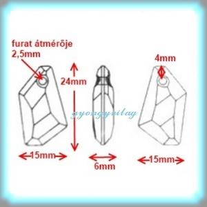 Ékszerkellék: Swarovski DE-ART  24mm-es több színben - gyöngy, ékszerkellék - swarovski kristályok - Meska.hu