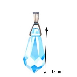 Swarovski kristály medál -13mm-es csepp  több színben  - ékszer - nyaklánc - medál - Meska.hu