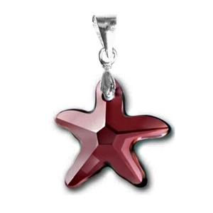 Swarovski kristály medál -16mm-es tengeri csillag több színben, Ékszer, Medál, Nyaklánc, Ékszerkészítés, Gyöngyfűzés, gyöngyhímzés, Meska
