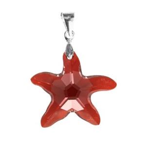 Swarovski kristály medál -20mm-es tengeri csillag több színben, Ékszer, Medál, Nyaklánc, Ékszerkészítés, Gyöngyfűzés, gyöngyhímzés, Meska