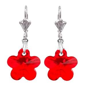Swarovski kristály fülbevaló -14mm-es virág  több színben , Ékszer, Medál, Nyaklánc, Ékszerkészítés, Gyöngyfűzés, gyöngyhímzés, Meska
