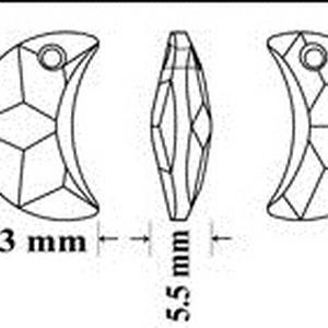 Ékszerkellék: Swarovski hold 20mm-es   - gyöngy, ékszerkellék - swarovski kristályok - Meska.hu