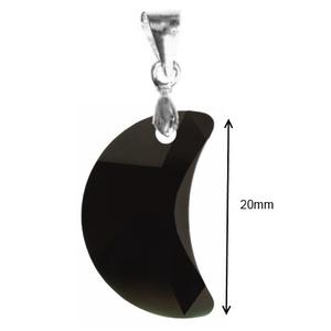Swarovski kristály medál -20mm-es hold több színben - ékszer - nyaklánc - medál - Meska.hu