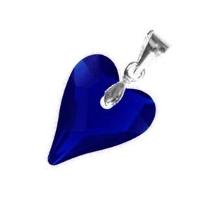 Swarovski kristály medál -12mm-es wild szív  több színben , Ékszer, Medál, Nyaklánc, Ékszerkészítés, Gyöngyfűzés, gyöngyhímzés, Meska