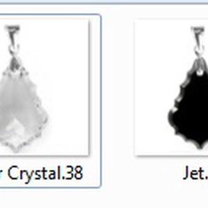 Swarovski kristály medál -50mm-es barokk  több színben  - ékszer - nyaklánc - medál - Meska.hu