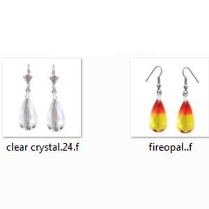 Swarovski kristály fülbevaló -24mm-es  csepp  több színben  - ékszer - fülbevaló - lógó fülbevaló - Meska.hu