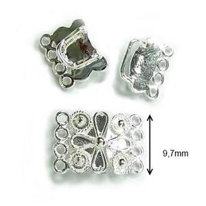 925-ös ezüst 4soros lánckapocs ELK 4S 02 - gyöngy, ékszerkellék - egyéb alkatrész - Meska.hu