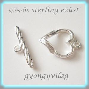 925-ös  ezüst T lánckapocs  ELK T 13, Gyöngy, ékszerkellék, Egyéb alkatrész, Ékszerkészítés, Gyöngy, 925-ös  ezüst T lánckapocs \n\nAz ár 1 garnitúra kapocsra vonatkozik.\n\nA méreteket az utolsó fotón lát..., Meska