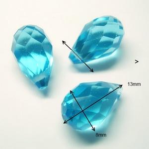 Üveggyöngy- csepp 8x13mm több színben - Meska.hu