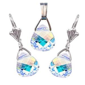 Swarovski kristály 11-11mm-es briolett szív szett , Ékszer, Ékszerszett, Ékszerkészítés, Gyöngyfűzés, gyöngyhímzés, Meska