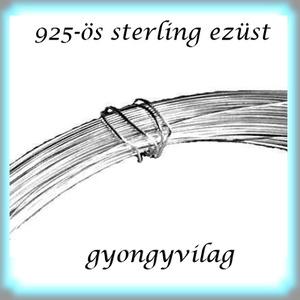 925-ös ezüst huzal hard (kemény)  EH 0,6mm-es 1cm  - Meska.hu