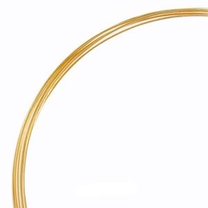 Gold Filled huzal 0,5mm-es 1cm, Gyöngy, ékszerkellék, Drót, Ékszerkészítés, Gyöngy, 14K arannyal bevont (gold filled) 925-ös ezüst huzal.\n\nA huzal alkalmas drótékszerek készítésére.\nHa..., Meska