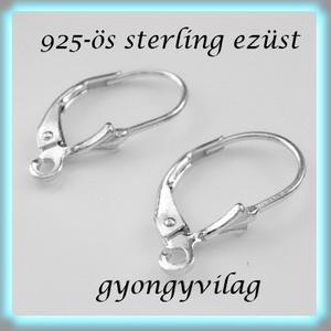 925-ös ezüst fülbevaló kapocs biztonsági kapoccsal EFK K 09 - Meska.hu