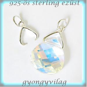 925-ös ezüst medálkapocs  EMK 30 - gyöngy, ékszerkellék - egyéb alkatrész - Meska.hu
