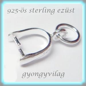 925-ös ezüst medálkapocs EMK 33, Gyöngy, ékszerkellék, Egyéb alkatrész, Ékszerkészítés, Gyöngy, 925-ös fémjellel ellátott valódi ezüst (bevizsgált)medálkapocs.\n\n\n\nA medálkapcsot fülbevaló készítés..., Meska