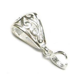 925-ös ezüst medálkapocs  EMK 58, Gyöngy, ékszerkellék, Egyéb alkatrész, 925-ös fémjellel ellátott valódi ezüst (bevizsgált)medálkapocs.  A méreteket a fotón láthatod.  A kr..., Meska