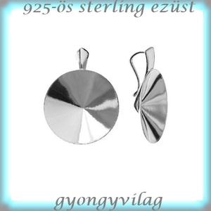 925-ös ezüst medálkapocs EMK 55-18, Gyöngy, ékszerkellék, Egyéb alkatrész, Ékszerkészítés, Gyöngy, 925-ös fémjellel ellátott valódi ezüst (bevizsgált)medálkapocs.\n\nA méreteket a fotón láthatod.\n925-ö..., Meska