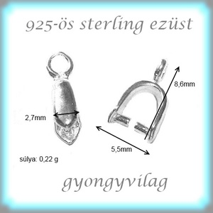 925-ös ezüst medálkapocs EMK 32 2db/csomag - Meska.hu