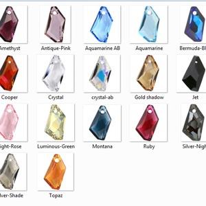Swarovski kristály 18-24 mm-es de-art szett több színben - Meska.hu