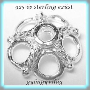 925-ös sterling ezüst gyöngykupak  1db/ csomag  EGYK 11, Gyöngy, ékszerkellék, Fém köztesek, Ékszerkészítés, Fém köztesek, EGYK 11\n\n925-ös fémjellel ellátott\nvalódi ezüst (bevizsgált)\ngyöngykupak.\n\n\n1 db / csomag\n\n\n\nMéretek..., Meska