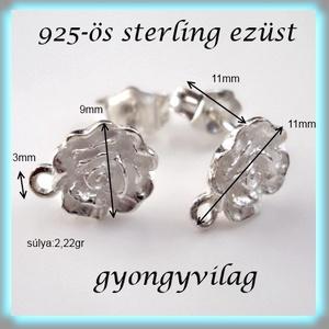 925-ös ezüst fülbevaló kapocs EFK B 03-9 - gyöngy, ékszerkellék - egyéb alkatrész - Meska.hu
