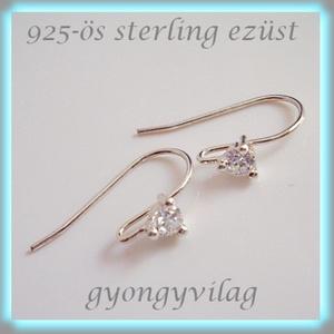 925-ös finomságú sterling  ezüst fülbevaló kapocs EFK A 25 - Meska.hu
