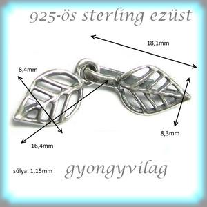 925-ös ezüst 1soros lánckapocs ELK 1S 36 - gyöngy, ékszerkellék - egyéb alkatrész - Meska.hu