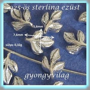 925-ös ezüst köztes / gyöngy / dísz EKÖ 64  2db/csomag - gyöngy, ékszerkellék - fém köztesek - Meska.hu