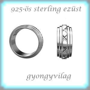 925-ös ezüst köztes / gyöngy / dísz EKÖ 67, Gyöngy, ékszerkellék, Fém köztesek, Ékszerkészítés, Mindenmás, Szerelékek, EKÖ 67   925-ös valódi  ezüst (bevizsgált) köztes / gyöngy / díszitőelem .    1 db / csomag    Az e..., Alkotók boltja