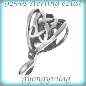 925-ös ezüst medáltartó EMT 24, Gyöngy, ékszerkellék, Egyéb alkatrész, Ékszerkészítés, Mindenmás, Szerelékek,  EMT 23\n925-ös fémjellel ellátott valódi antikolt ezüst (bevizsgált)medáltartó,csúszókapocs.\n\n\nAz ár..., Meska