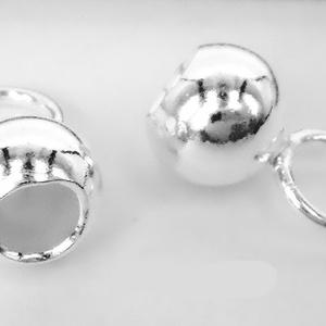 925-ös ezüst láncvég ELK V 15-2, Gyöngy, ékszerkellék, Egyéb alkatrész, Ékszerkészítés, Gyöngy, ELK V 15-2\n\n925-ös fémjellel ellátott valódi ezüst (bevizsgált) lánckapocs vég ezüsthuzalhoz, bőrhöz..., Meska