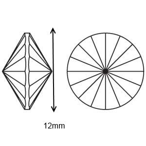 Swarovski rivoli ragasztható   1db/cs  12mm  - gyöngy, ékszerkellék - swarovski kristályok - Meska.hu