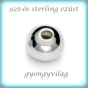 EKÖ 10-5   925-ös 5mm-es   ezüst köztes / gyöngy / díszitőelem  2db/csomag - gyöngy, ékszerkellék - fém köztesek - Meska.hu