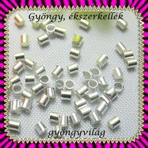 Ékszerkellék: köztes / díszítőelem / gyöngy BKÖ 1S 08-1,5e 100db/csomag, Gyöngy, ékszerkellék, Fém köztesek, Ékszerkészítés, Mindenmás, Szerelékek, Ezüst színű 1,5mm-es köztes/díszitőelem/stopper .  kb.100db / csomag  A méreteket a második fotón t..., Alkotók boltja