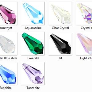 swarovski csepp 13mm-es több színben, Gyöngy, ékszerkellék, Swarovski kristályok, Ékszerkészítés, Gyöngy, SWAROVSKI KRISTÁLY CSEPP, TÖBB SZÍNBEN !\n\nMéret:13mm\n\n\nAz ár egy darabra vonatkozik!\n\n\n\nA színtábláz..., Meska