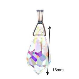 Swarovski kristály medál -15mm-es csepp több színben  - ékszer - nyaklánc - medál - Meska.hu