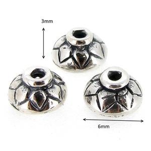 925-ös sterling ezüst gyöngykupak  1db/ csomag  EGYK 32 - Meska.hu
