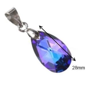 Swarovski kristály medál -28mm-es csepp  több színben , Ékszer, Medál, Nyaklánc, Ékszerkészítés, Gyöngyfűzés, gyöngyhímzés, Meska