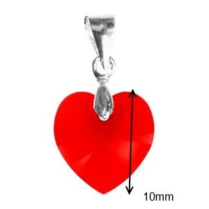 Ékszerek-medálok: Swarovski kristály medál -10mm-es szív több színben - Meska.hu